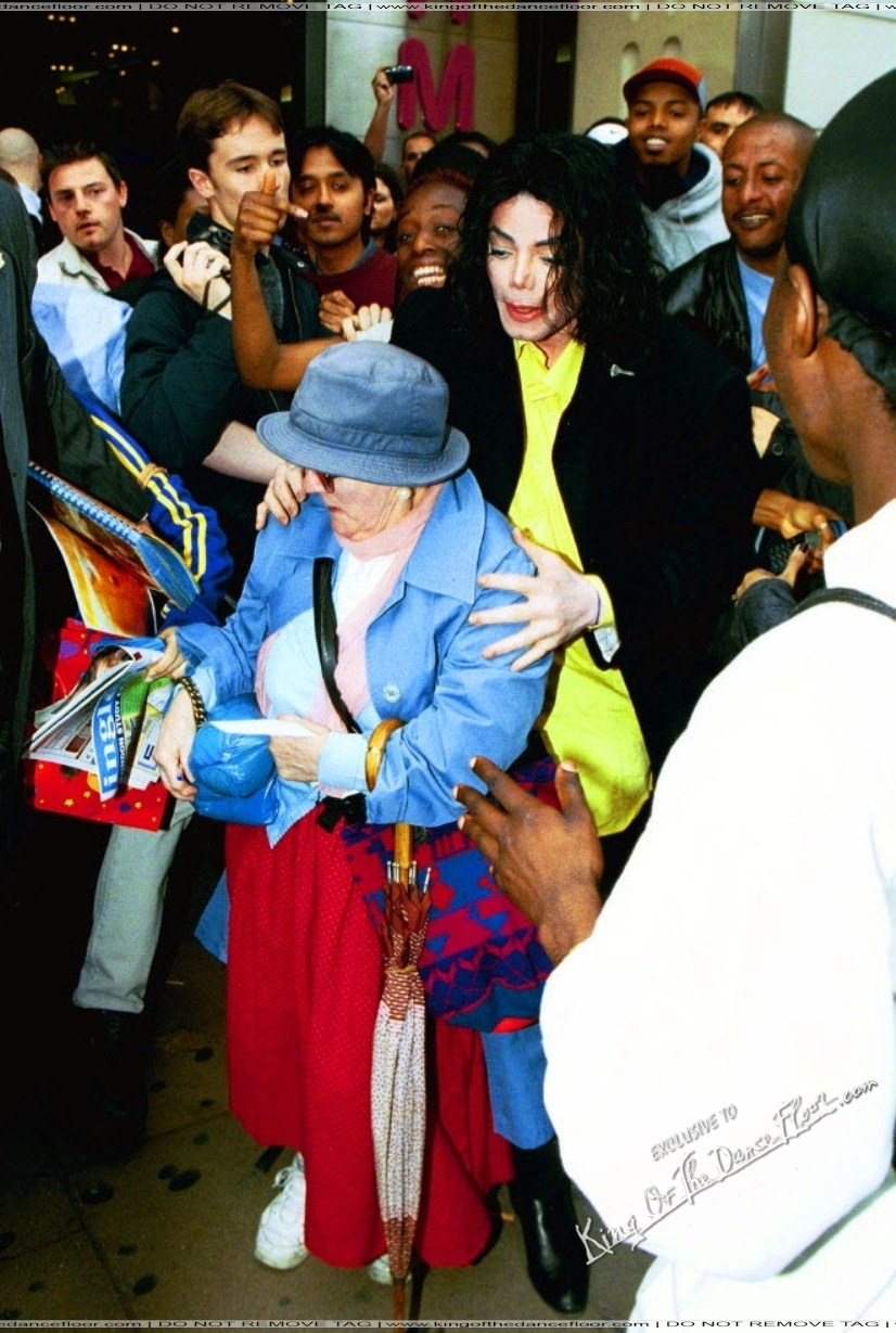 MJ and old woman