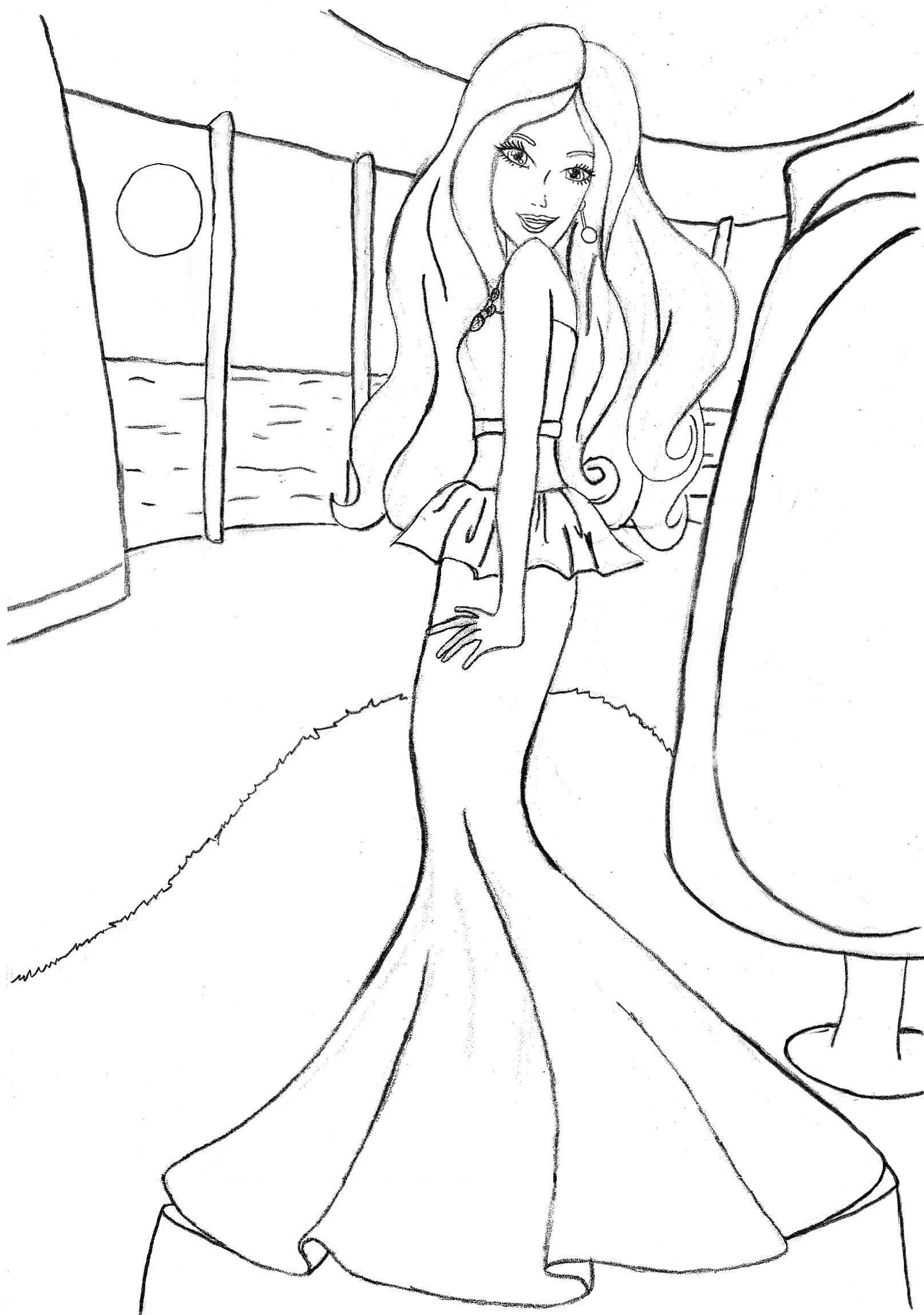 Pin Barbie Fairy Coloring Pages With Butterfly Wings Look
