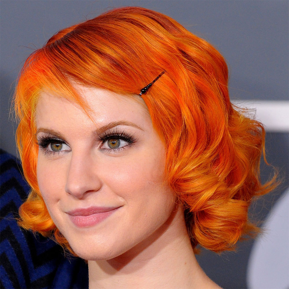 Hayley Williams Hair Images Short Bright Orange Hair HD