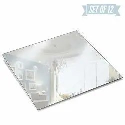 square mirror plate set of 12 mirrors trays 8 inch x 8 inch 1 5 mm thick perfect for table wedding centerpieces party decor crafts r home