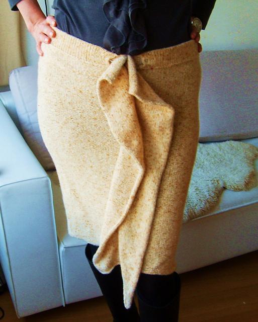 vertical ruffle skirt
