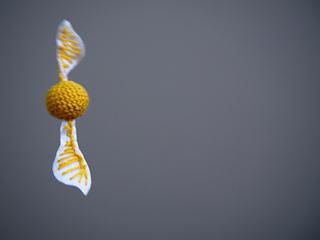 Golden snitch crochet pattern - Harry Potter toy