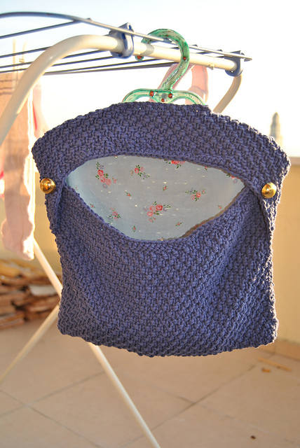 knitted peg bag sac pinces à linge tricot