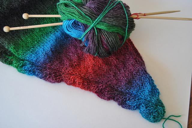 Saroyan Liz Abinante shawl tricot knit