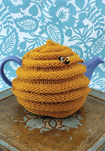 Beehive tea cozy - a free knit pattern