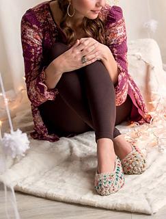 Crochet thrummed slippers