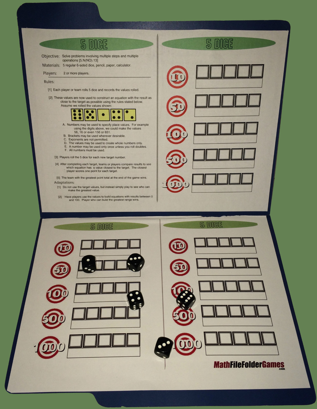 42 Printable Math Games For Upper Elementary And Middles
