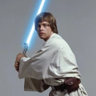 A promotional image of Mark Hamill as Luke Skywalker