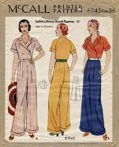 McCall 6945 (1932) Beach pajamas