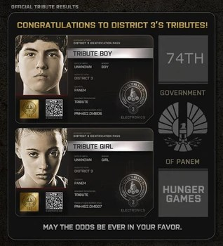 District 3 Tributes District Th Hunger Games