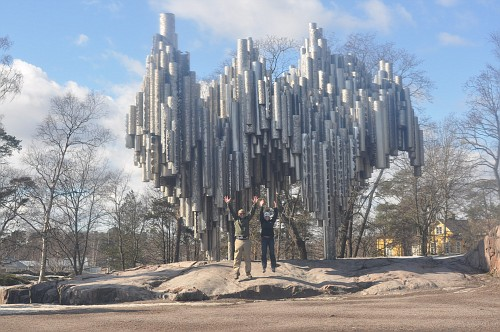 Sibelius Monument...and our attempt at an exiting picture