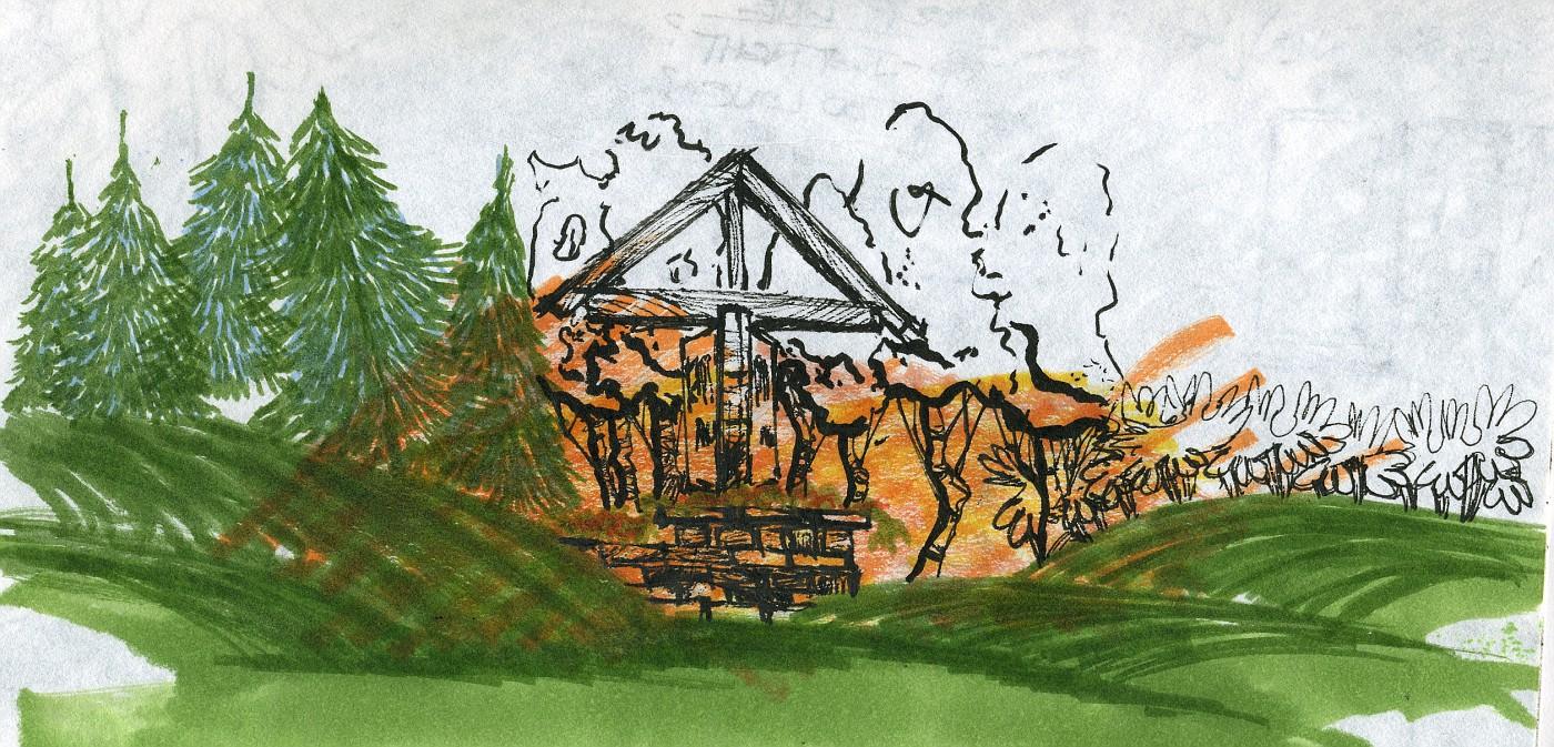 landscape design, landscape rendering, markers