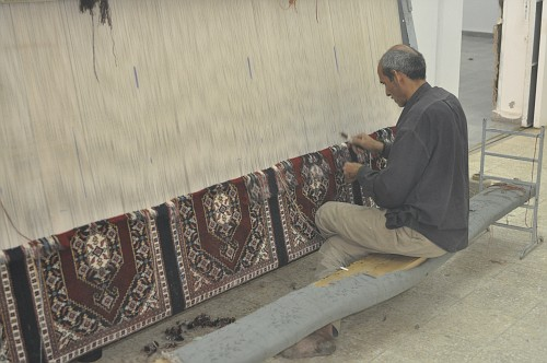 Making multiple carpets at the same time...all same design