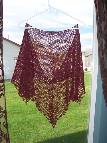 * A lovely crochet shawl - its amazing how different it looks depending on the yarn used! Do check out the project gallery, youll see what I mean!