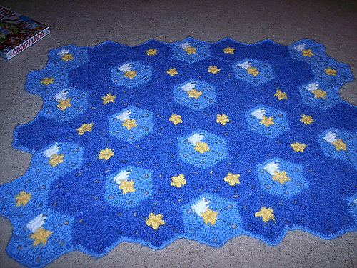 This is such a cute baby blanket, I love it!