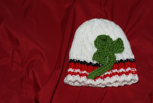 * The Fifth Doctor beanie!  Cool!  Though it does look a bit more like a shamrock than celery...