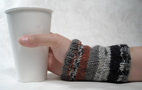 This is a cool idea - a cuff that works for your wrist as well as for your cup of coffee!  ;)