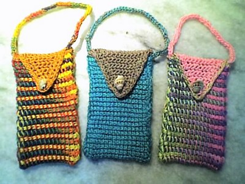 * Cell phone cozies! Or really, little bags you could use for anything.  Cute!