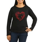 PIECE OF MY HEART Women's Long Sleeve Dark T-Shirt