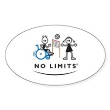 Disabled Volleyball Boy Decal