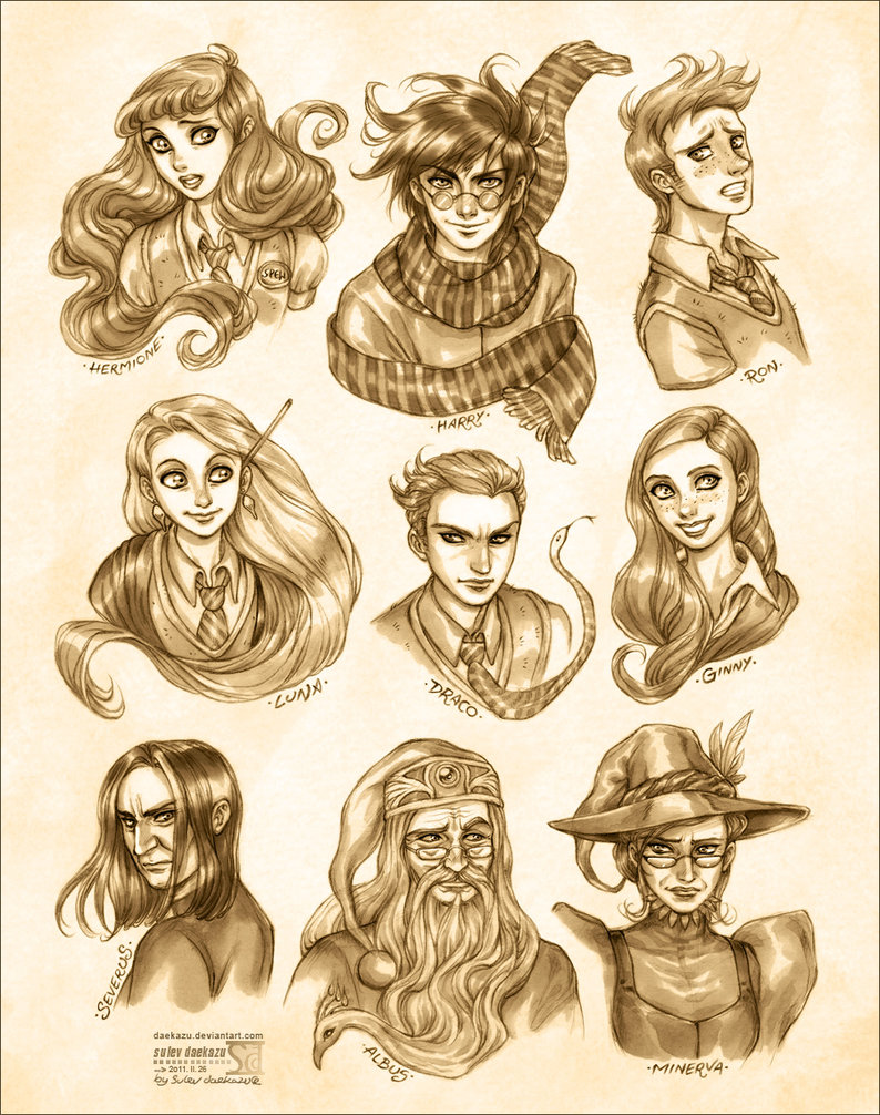 Harry Potter: Portraits - Harry Potter Fan Art (24827884) - Fanpop