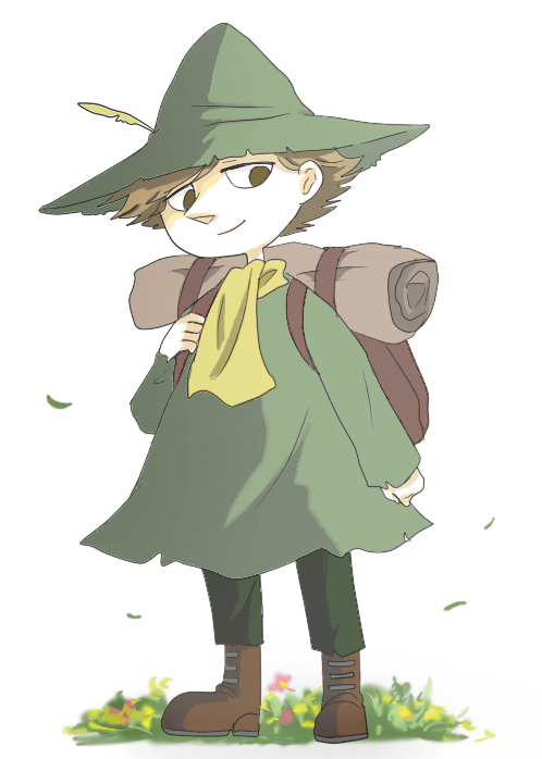 moomin snufkin colouring pages