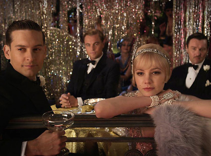 Tobey Maguire, Leonardo DiCaprio, Carey Mulligan, and Joel Ederton as the story's main characters