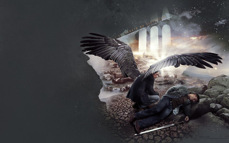 Castiel and Dean - love-angels Wallpaper
