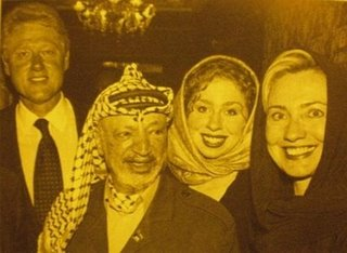 Hijabed Hillary schmoozing with terrorists