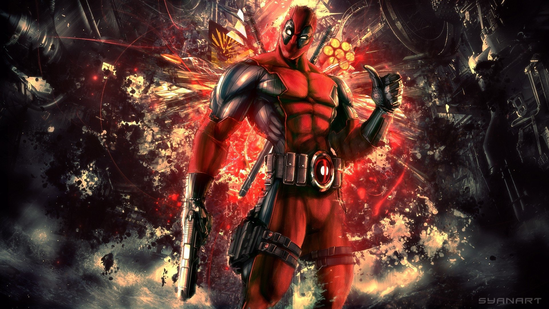 772 Deadpool HD Wallpapers   Background Images   Wallpaper Abyss HD Wallpaper   Background Image ID 417300  1920x1080 Comics Deadpool