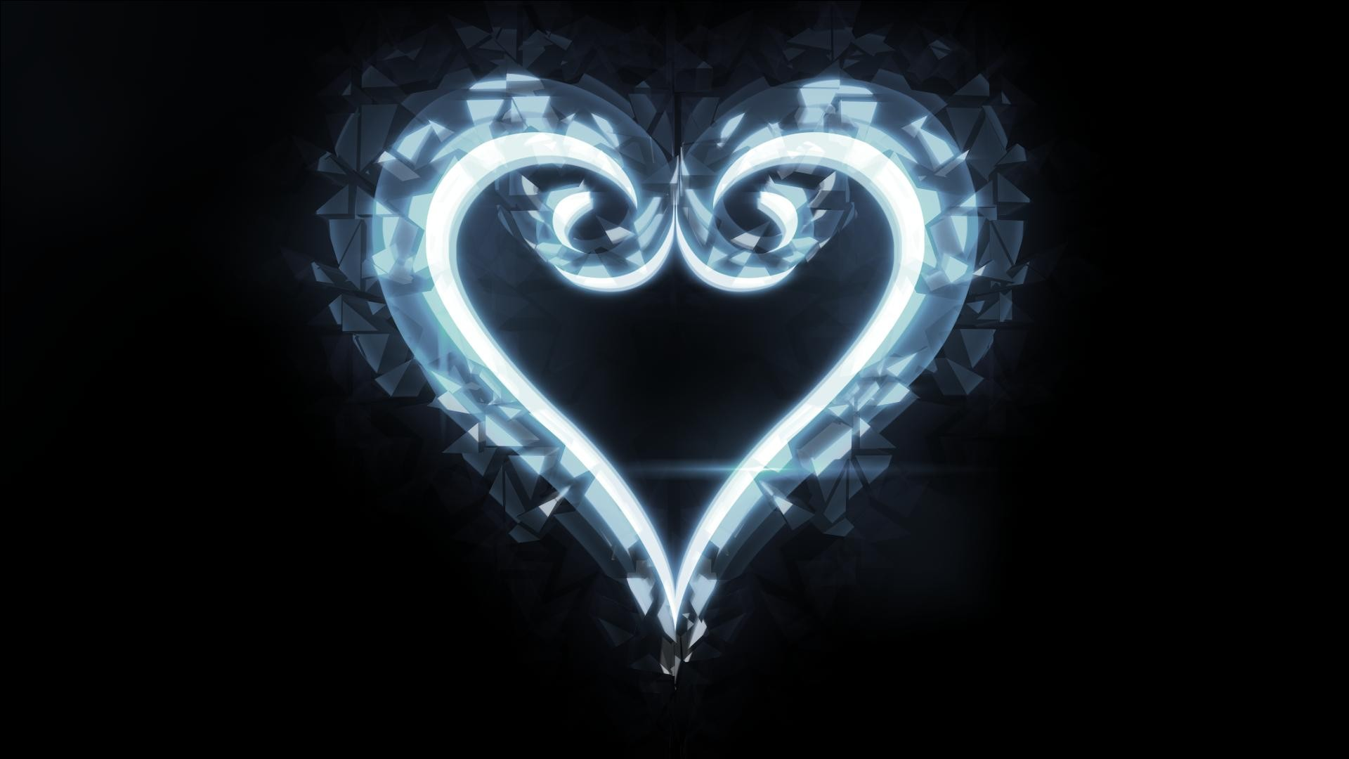 Falling Hearts Background