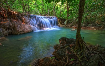 Tropical Waterfall HD Wallpaper | Background Image ...