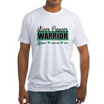 Liver Cancer Warrior Fitted T-Shirt