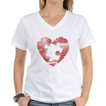 PIECE OF MY HEART Women's V-Neck T-Shirt