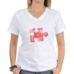 MY MISSING PIECE Women's V-Neck T-Shirt