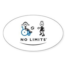 Disabled Soccer Girl Decal