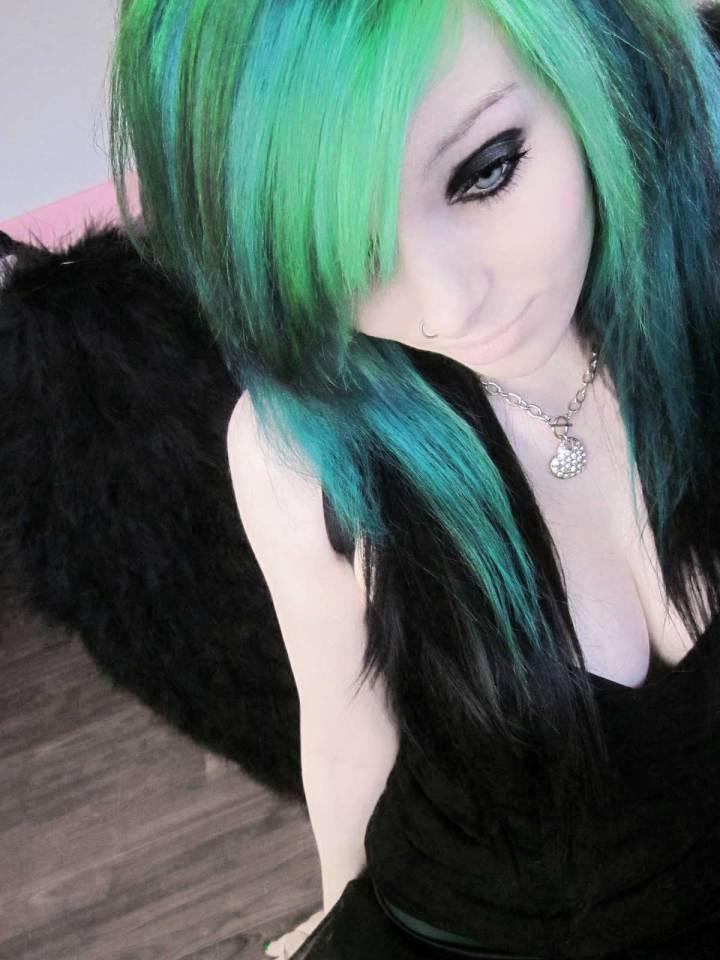 Emo Hair Blue And Green luxury – wodip