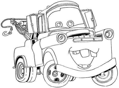 mater the tow truck images tow mater coloring page wallpaper and
