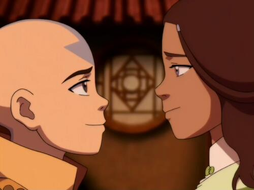 aang and kataras relationship matures