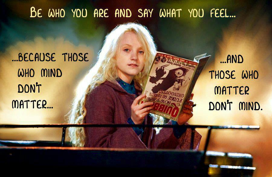 Luna Lovegood Harry Potter Friendship Quotes