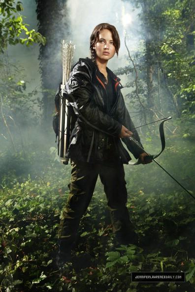Katniss Shooting Arrow At Arena
