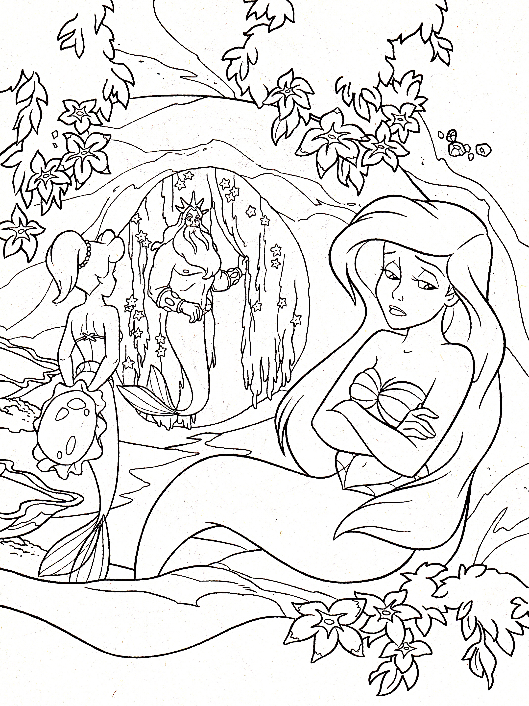 King Triton Coloring Page - Coloring Home | 2853x2138