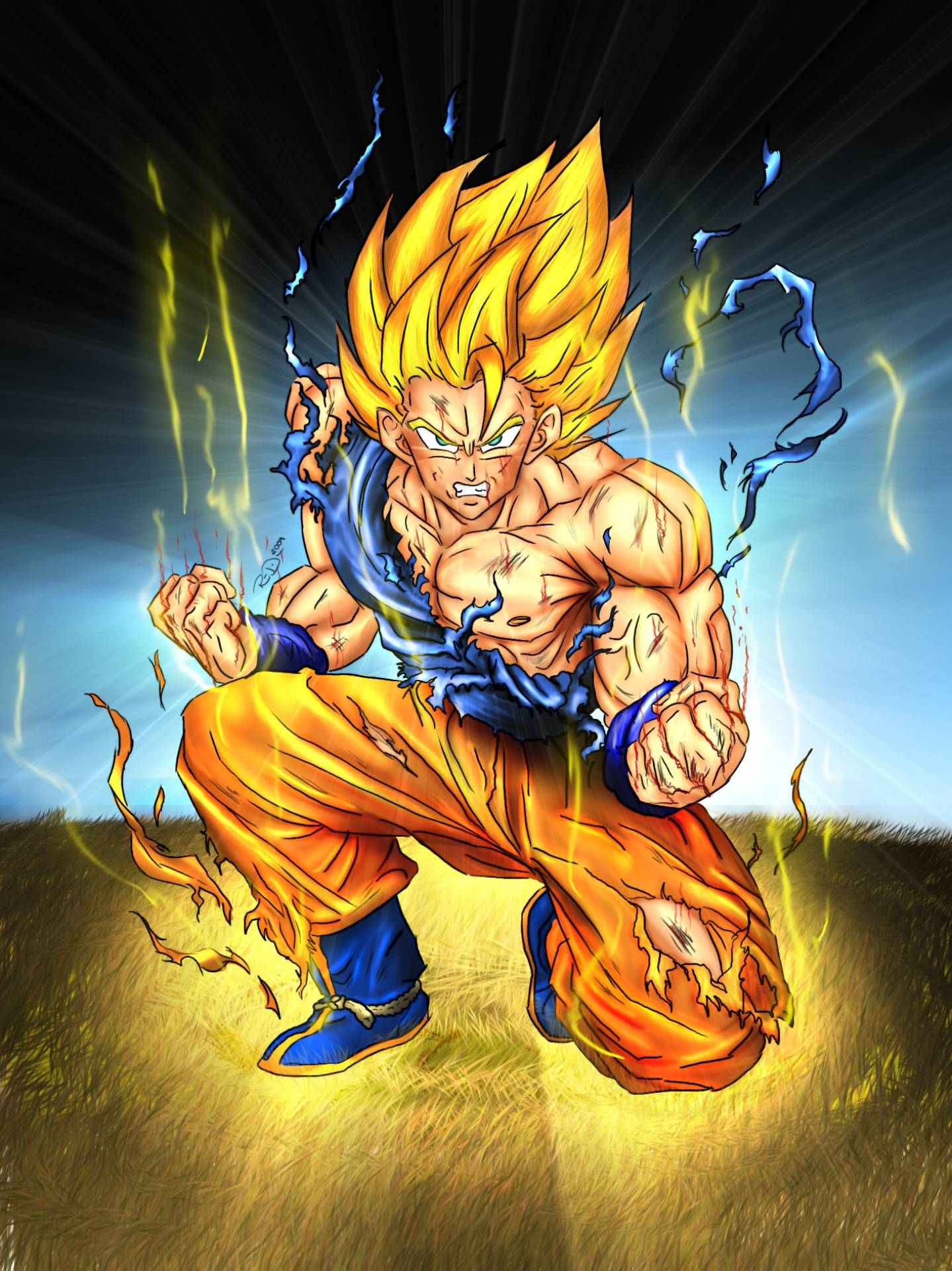 Super Saiyan Goku   Dragon Ball Z Fan Art (35516340)   Fanpop