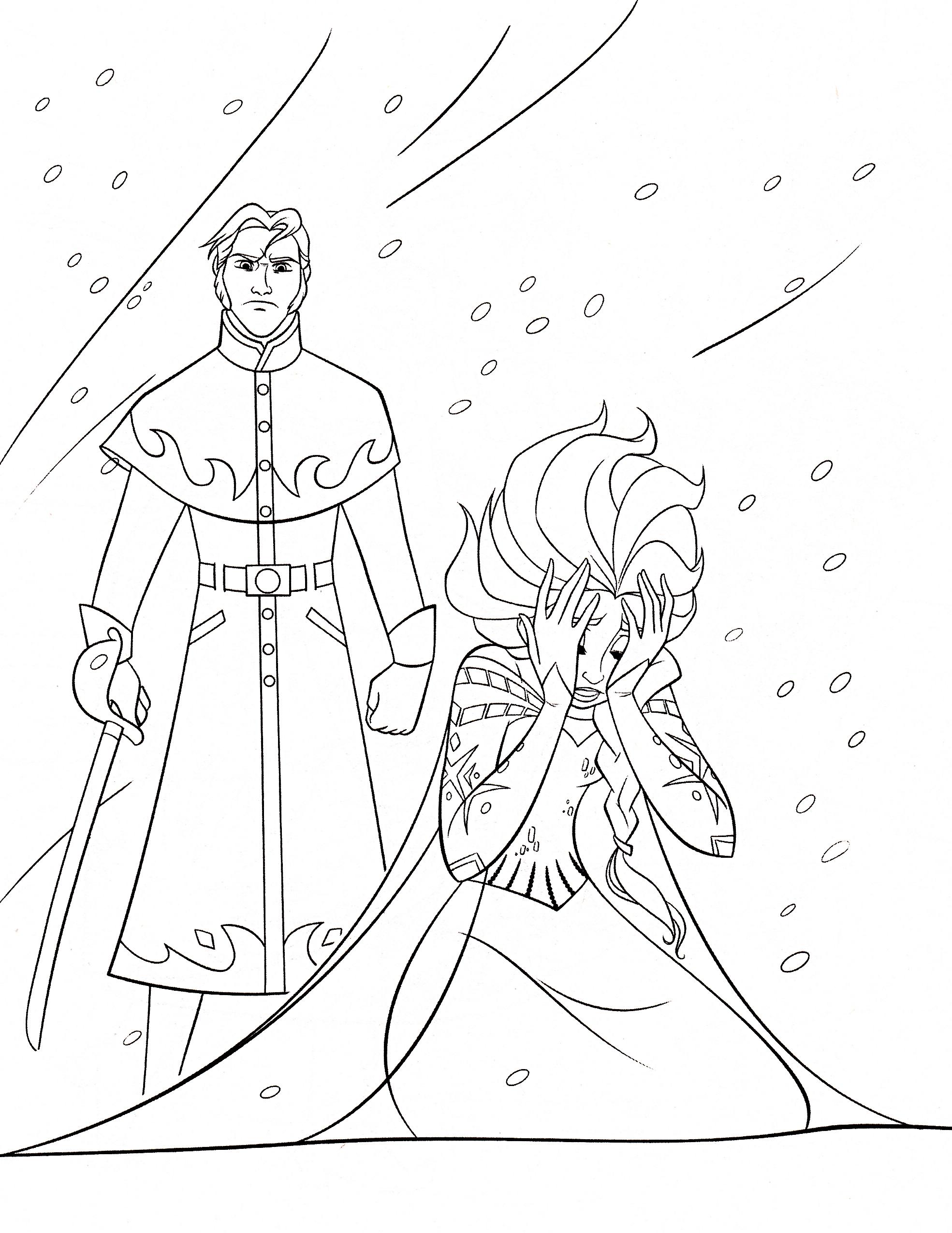 Disney frozen coloring pages hans - Disney Frozen Coloring Pages Hans 6