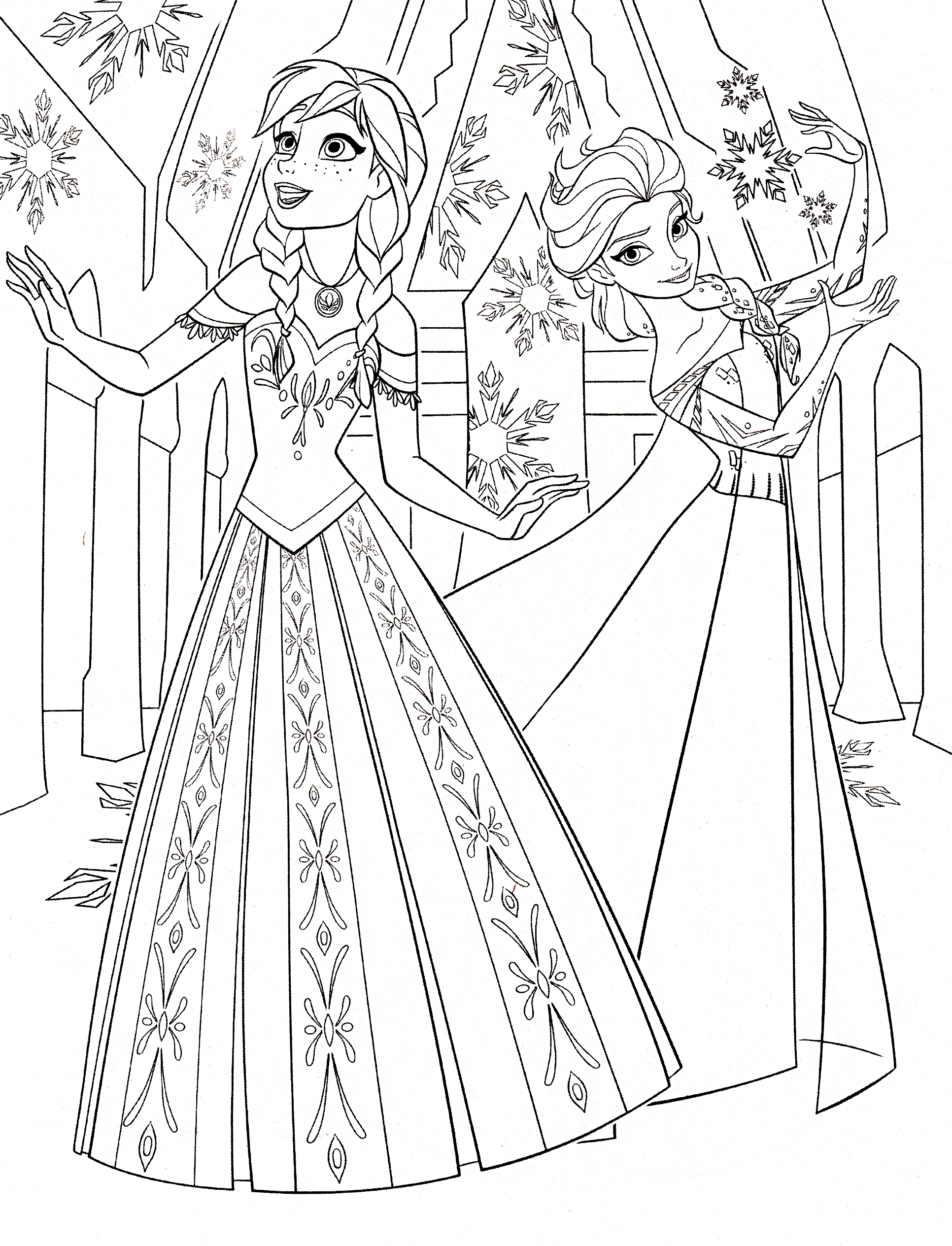 Free Printable Coloring Pages Elsa And Anna