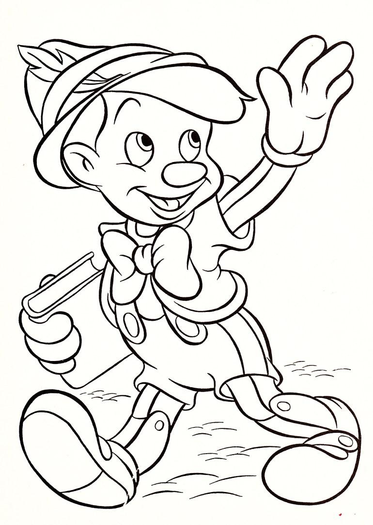 Walt Disney Coloring Pages - Pinocchio - Walt Disney ...   coloring pictures printable disney characters