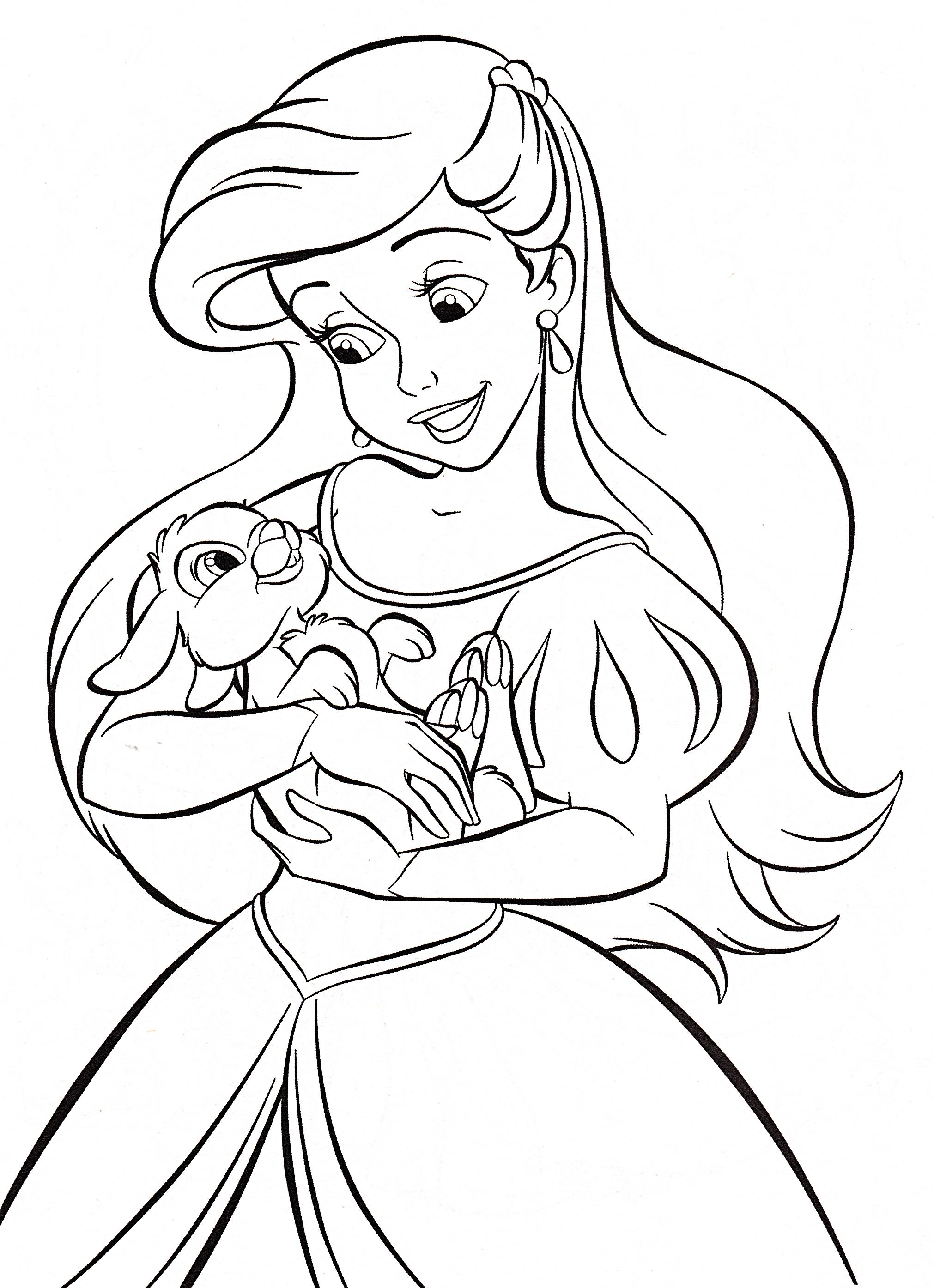 Baby princess coloring pages - Disney Princess Baby Ariel Coloring Pages Princess Coloring Pages Ariel Baby Disney Princess Coloring Pages