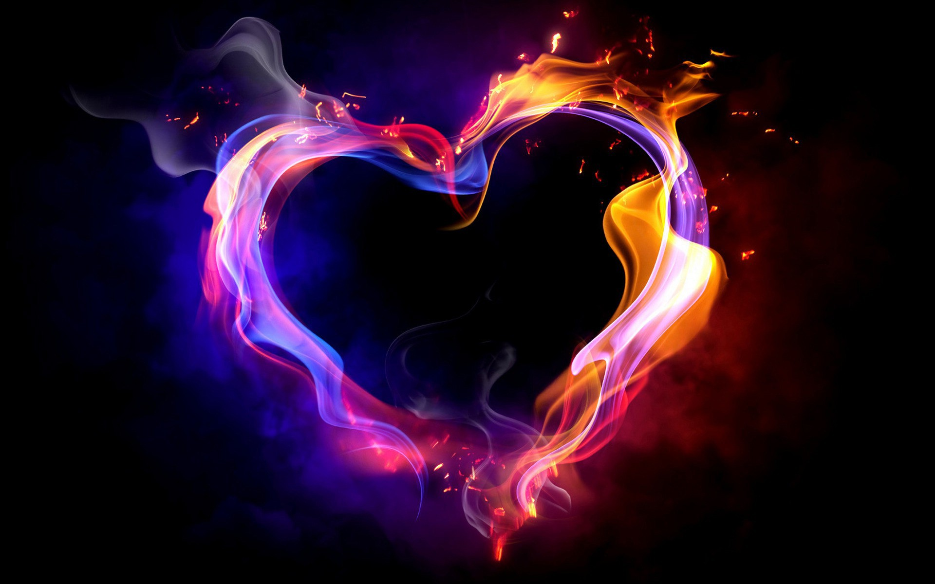 Image result for love heart fire