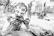 Walking Dead Zombie Coloring Pages
