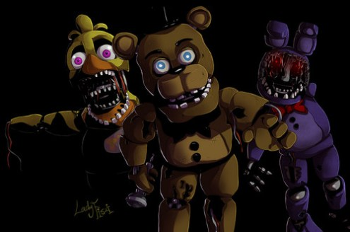 Five Nights at Freddy s images withered animaronics fnaf 2 by     Five Nights at Freddy s wallpaper entitled withered animaronics fnaf 2 by  ladyfiszi d9f1f7h